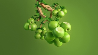 apple, green