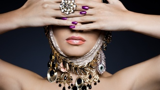 woman, rings, jewelry