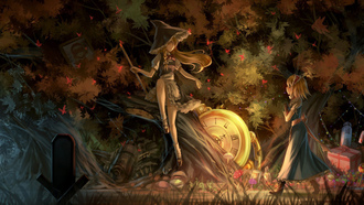 fantasy, game, forest, trees hat, anime