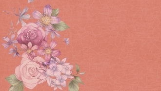 flowerpink, background, scrapbook