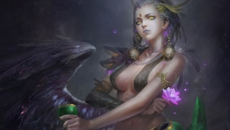 big boobs, fantasy art, fantasy girl