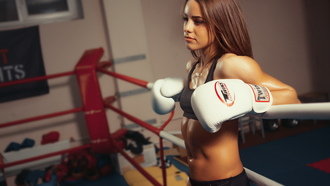boxing, girl