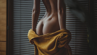women, tanned, ass, back, undressing, venus dimples