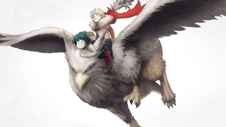 anime wings hero manga, powerful strong yuusha riffin, mythological animal, oku no ero cademia, y ero cademia