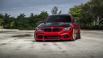 red, bmw