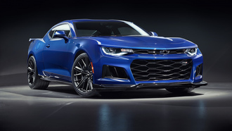 chevrolet, camaro, blue