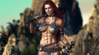 3d, warrior girl