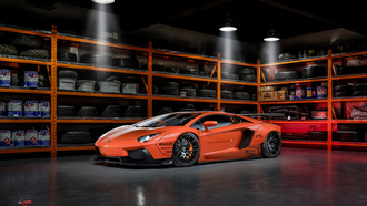 lamborghini, orange