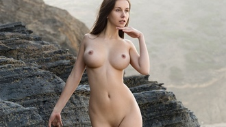 girl, cute, nude