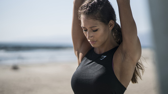 fit girl, karina elle, gym shark