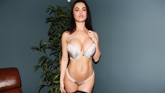 brunette, emma glover, boobs, lingerie
