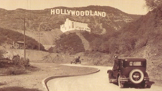история, голливуд, старое, фото, hollywoodland, надпись