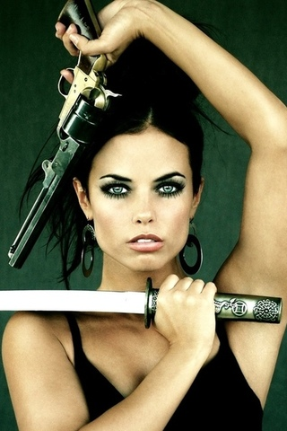Hot girl, ������, �������, �����, ���������, gun sword