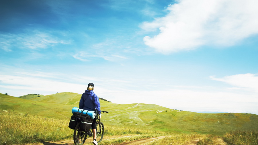 Путешествие велосипед турист туризм