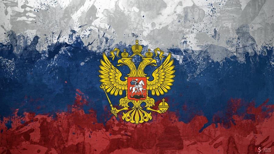 Обои флаг россия триколор герб орел