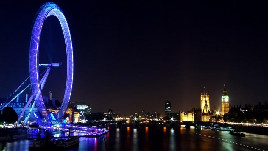 Река ночь чертово колесо лондон