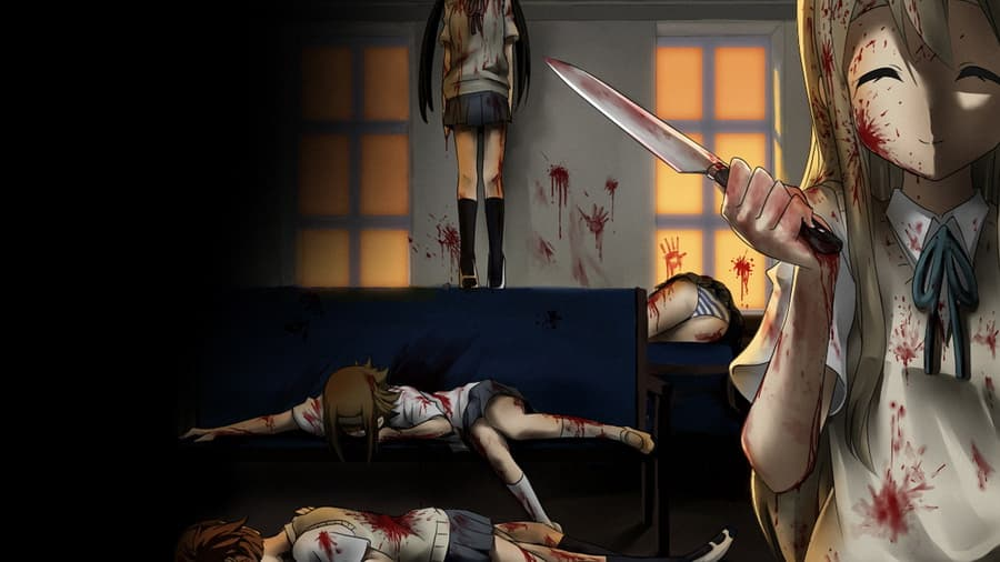 аниме девушки в крови: