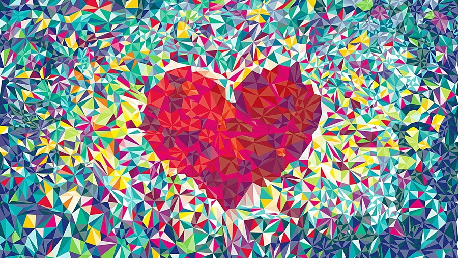 Абстракция сердце на рабочий стол