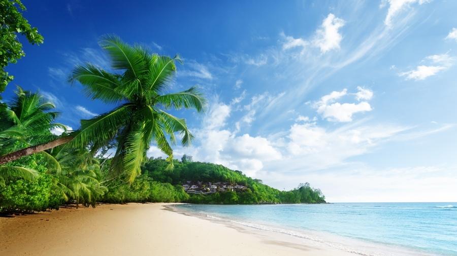 Пейзаж небо пляж природа море