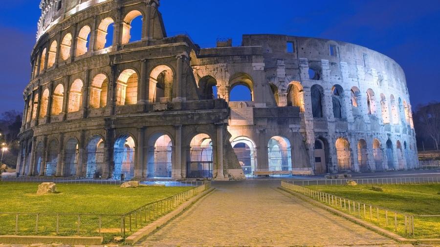 Города колизей италия рим дорога