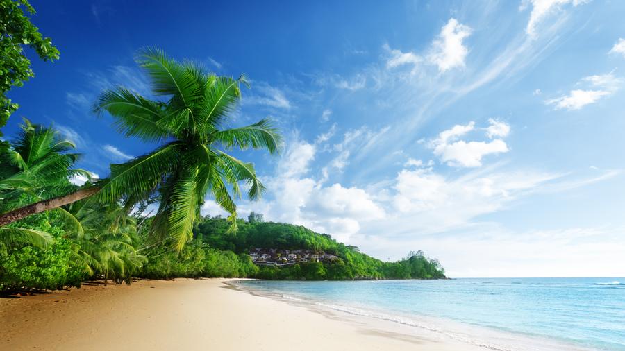 Природа море пляж пейзаж облака