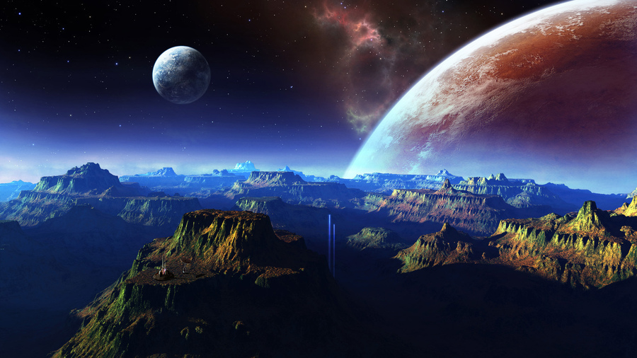 Космос картинки космос планеты горы