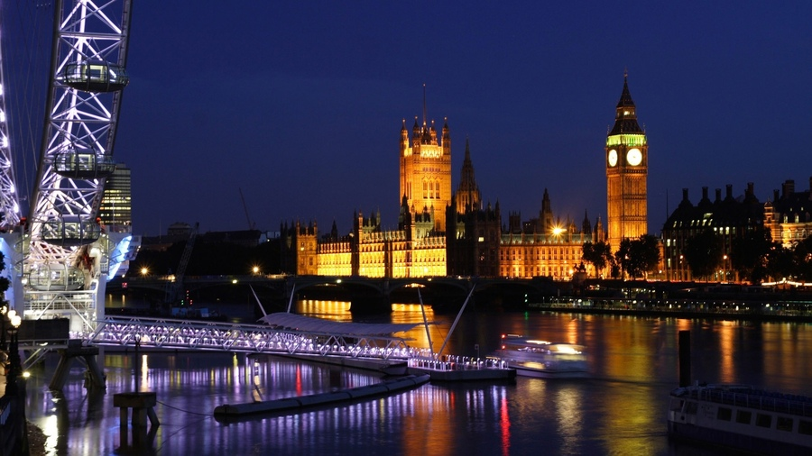 Лондон london eye биг бен clocks часы