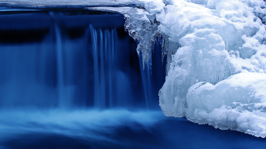 Водопад холод лед снег природа зима