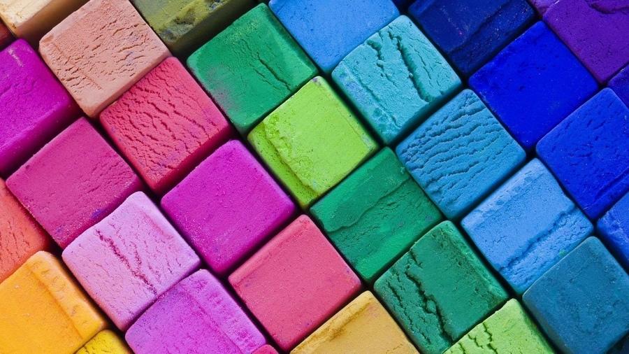 Мелки кубики фон текстура яркий