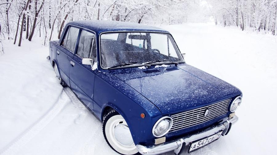 Обои жигули, синяя, снег, зима, копейка, ваз, 2101 ... Ваз 2101 Оригинал