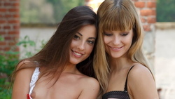 lorena b, charlise bella, lesbian, cuties, pretty, puffy, smile, nipple, lo ...