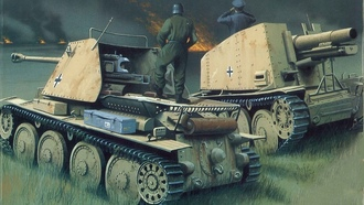 ww2, panzerjager marder, military art