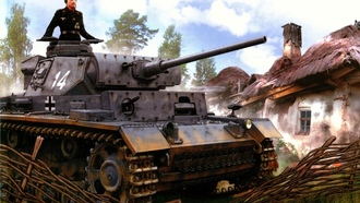 ww2, panzer iii, military art