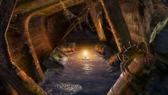 light, Locations for games, candle, pirates, ship, bogdan maistrenko, masterbo, spider
