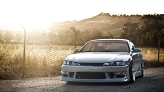 wallpapers, drift, Car, s14, walls, silver, jdm, works, stance, silvia, japan, nissan, sun, car
