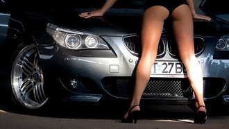 m5, sexy, girls, alpina, ����, e60, bmw, wallpapers, Car, girl, tuning, ������