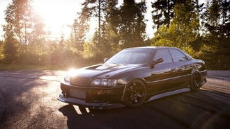 black, ����, tuning, Car, jdm, toyota, japan, chaser, jzx100, ����������, wallpapers
