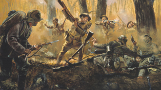 courthiezy, july 15, among the 17 national guard, france, Men of iron by don troiani, 1918