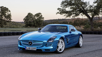 mercedes, electrcic drive, amg, coupe, sls