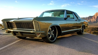 muscle car, riviera, 1965, ������ �������, �����, �������, Buick, green