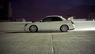 parking, cars, subaru impreza, sti, impreza, tuning cars, Auto, wallpapers city, city