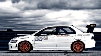 wallpapers auto, cars, mitsubishi lancer, tuning �ars, Auto, tuning auto, race car, mitsubishi
