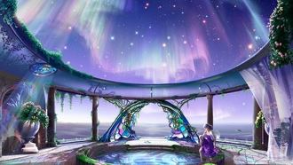 opal gate, yutaka kagaya, celestial exploring, Cg wallpapers, hearty welcome, starry tales