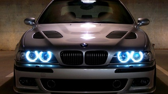 бумер, черная, машины, angels eyes, машина, Bmw, е39