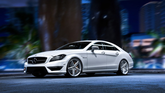 мерседес, hd pictures, белый, wallpaper, autowalls, тюнинг, Mercedes benz cls