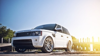 white, sport, Land rover, лэнд ровер, range rover, ренж ровер, спорт