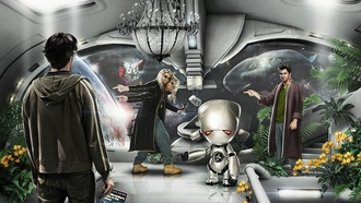 Marvin the Paranoid Android, Zaphod Beeblebrox, Arthur Dent, The Hitchhikers Guide To The Galaxy, Ford Prefect, Форд Префект, Автостопом по Галактике, Артур Дент, MarvinParanoid Android, Зафод Библброкс