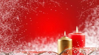 candles, red, snow, Christmas outfits, �������, ����, �����, �������������� ������