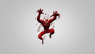 �������-����, ���������������, minimalistic, ������� ���, Marvel Comics, Spider-man, simple background, Carnage