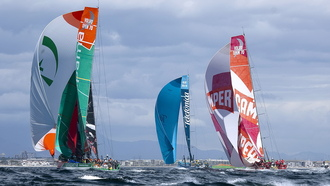 Start of the Cape Town in Port race of the, Volvo Ocean Race 2011  2012